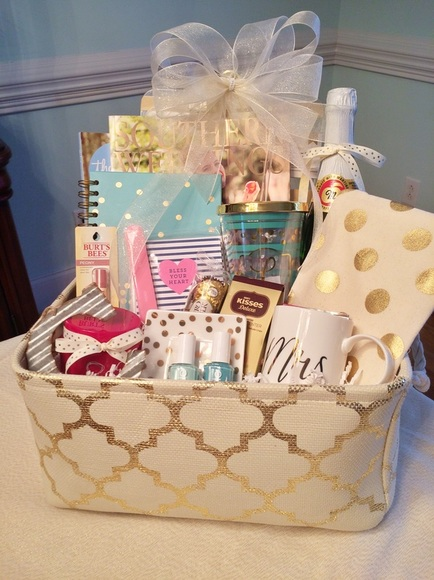 Wedding Gift Ideas For Bride From Friends : Gift Basket for Bride-to-be!